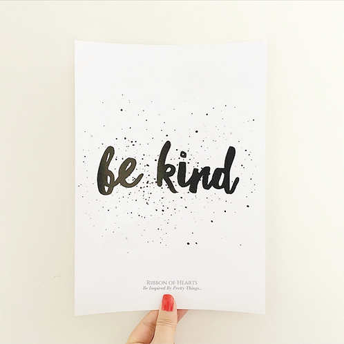 Be Kind A4 Print with Diamante Detail
