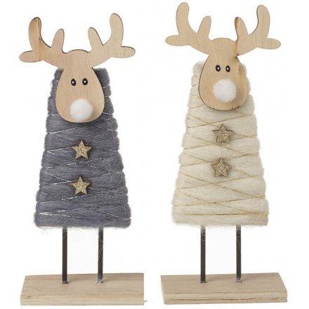 Woollen Standing Reindeer