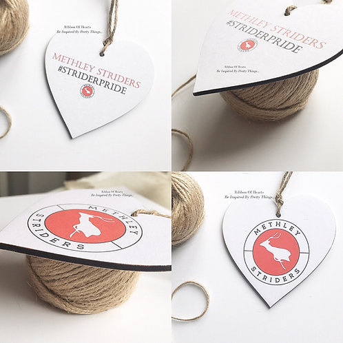 Methley Striders Wooden Hanging Hearts