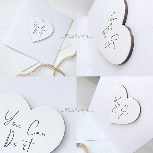 You Can Do It - Star/Heart Cards with Magnet with Diamante Detail
