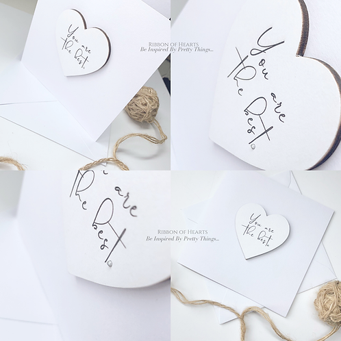 You Are The Best - Star/Heart Cards with Magnet with Diamante Detail