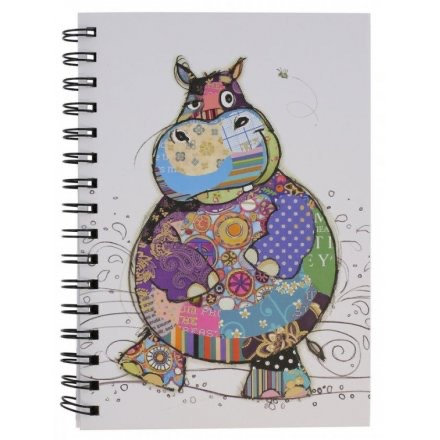 Harry Hippo Design Lined Notebook, A5