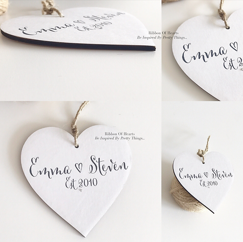 Personalised Established Hearts /Magnets