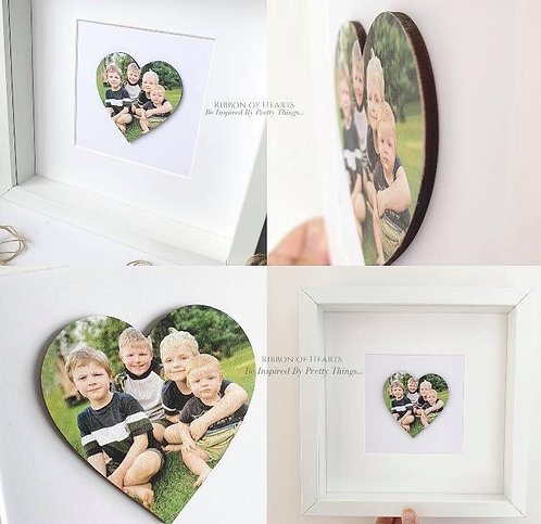 Framed Wooden Photo Hearts 25 x 25 cm