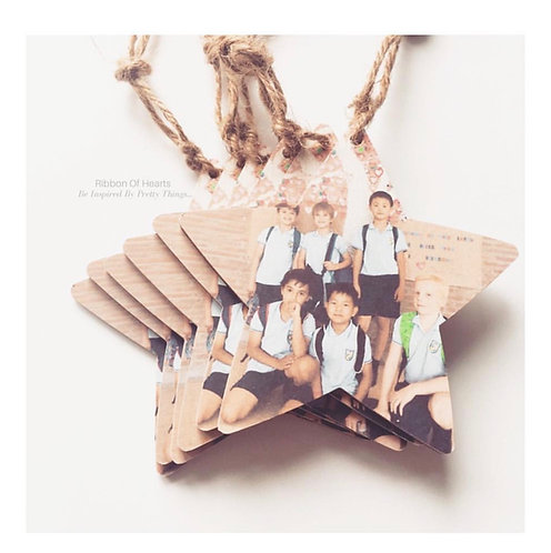 Wooden Hanging Photo Stars