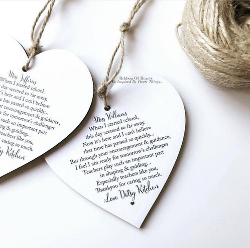 Teacher Personalised Hearts