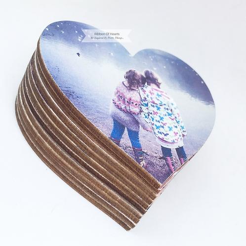BUNDLES Wooden Heart Photo Fridge/Office/Memo Board Magnets
