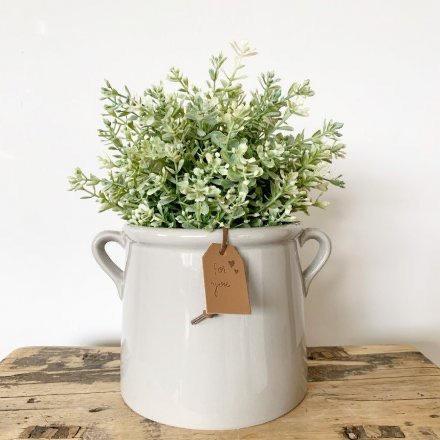 For You Grey Ceramic Pot 15cm