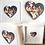 Thumbnail: Framed Wooden Grandparents Photo Hearts 25 x 25 cm