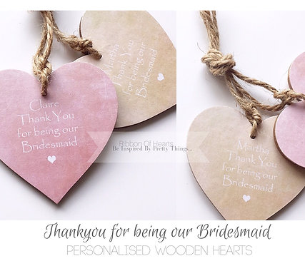 Wedding - Personalised Thank You Hearts
