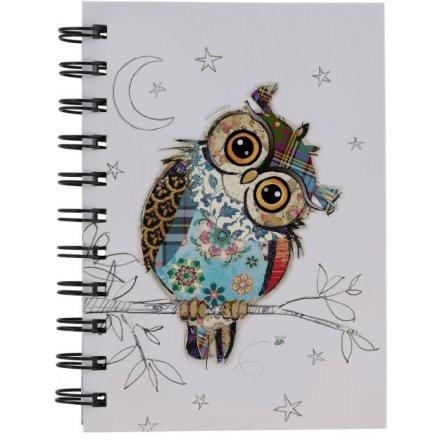 Owen OWL Design Lined Notebook, A6