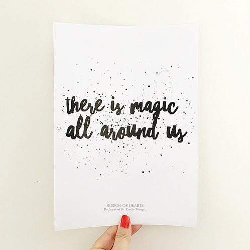 There is Magic all around us A4 Print with Diamante Detail