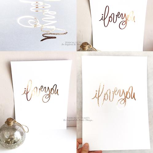 I Love You Wall Print A4, Black or Rose Gold Foil Print