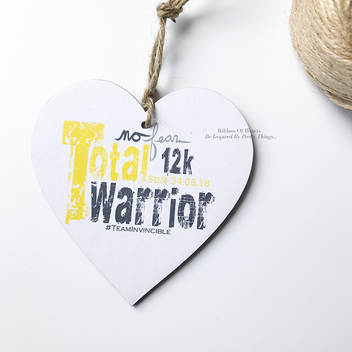 Total Warrior Runners Personalised Hearts, medals, running gifts