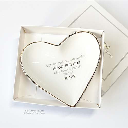 Good Friends Heart Trinket Dish