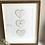 Thumbnail: Personalised Map Hearts Framed