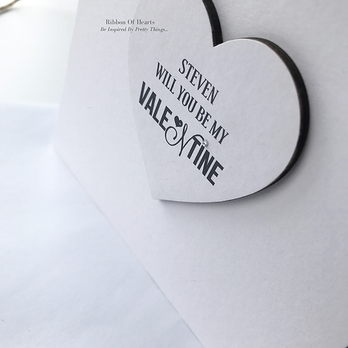 Personalised 'Will you be my Valentine' Valentines Day Card with Magnet