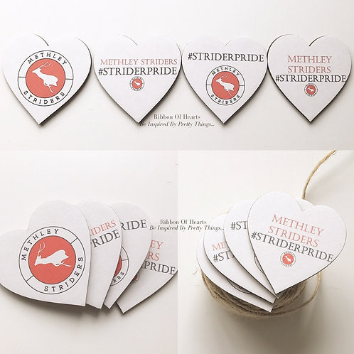 Methley Striders Wooden Heart Magnets | Set of 4