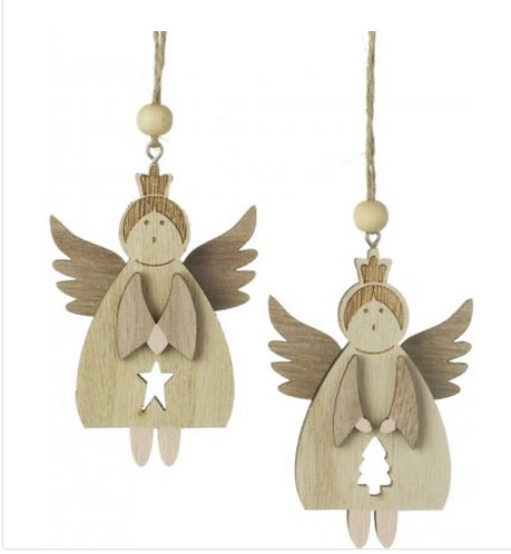 Hanging Wooden Angels