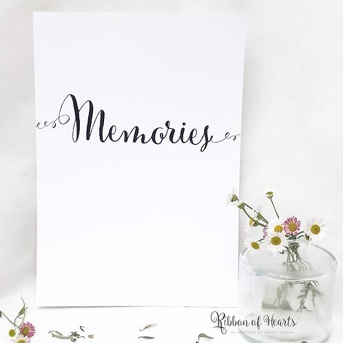 Memories - Spiral A4 Print