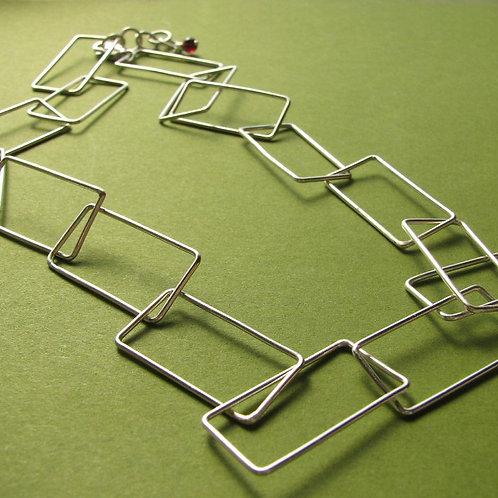 Rectangulation Chain Necklace