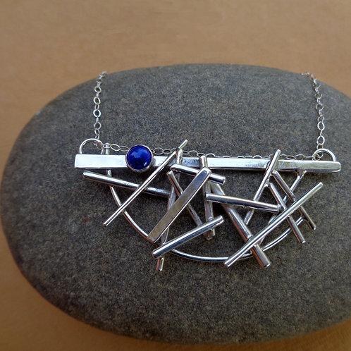 Pick-Up-Sticks Necklace - Lapis