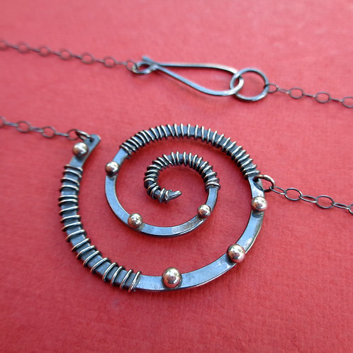 Decorated Spiral Necklace