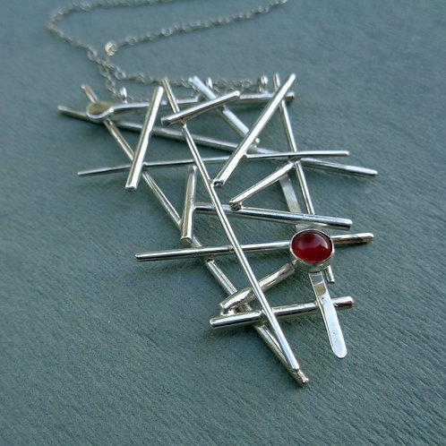 Pick-Up-Sticks Necklace - Carnelian