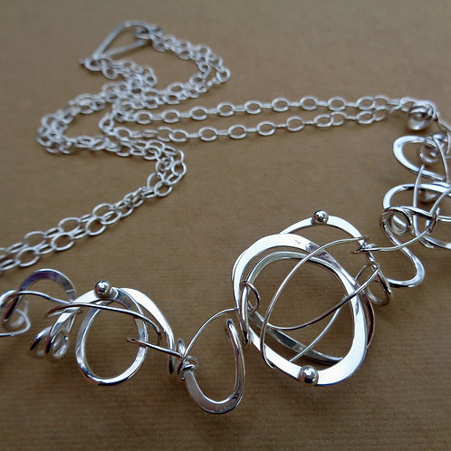 Scribbles Necklace - Double Chain