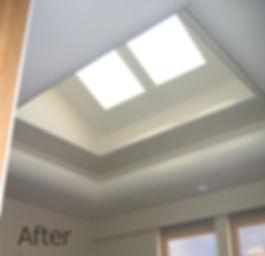 Decorative skylight with radiused soffit work