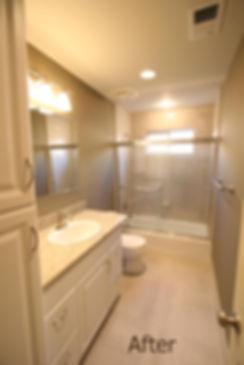 Light grey tones highlight this guest bathroom