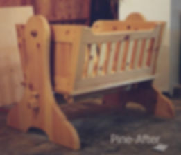 Pine Cradle with shouldered tenon and locking pins