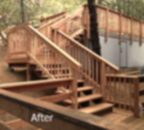 New stairs improve flow to the house on this sloping lot.