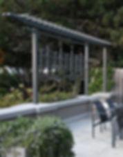 Powder coated steel patio screen