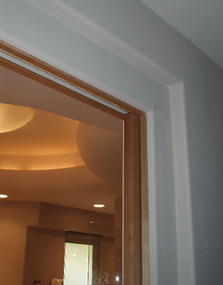Using negative space to trim out a door
