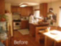 Customer's original kitchen with a desire of being bigger