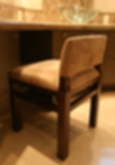 Upholstered chair design in Wenge wood