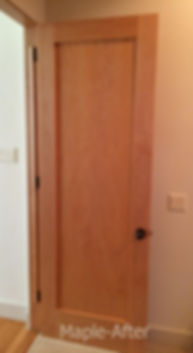 Custom 8' site built Maple Jambs Doors with Mortise and Tenon joinery