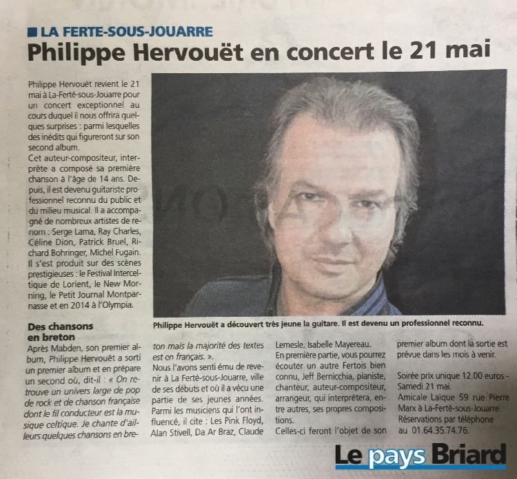 article le pays briard Hervouët
