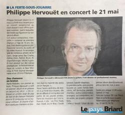 article le pays briard Hervouët