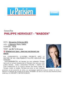 LE PARISIEN PHILIPPE HERVOUET