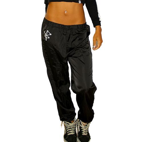 Vapor Mesh Panel Pants - BLACK
