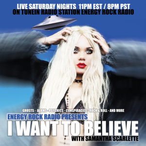 """Samantha Scarlette launches new radio show """"I Want To Believe with Samantha Scarlette""""."""