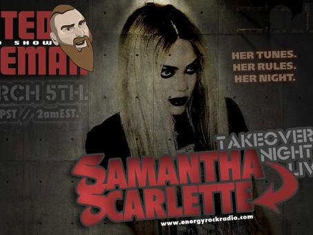 Samantha Scarlette on Energy Rock Radio's Rated Ryeman Show