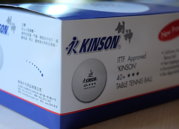 KINSON 40+ 3-STAR: 2 Boxes of 24 Packs (144 Balls)