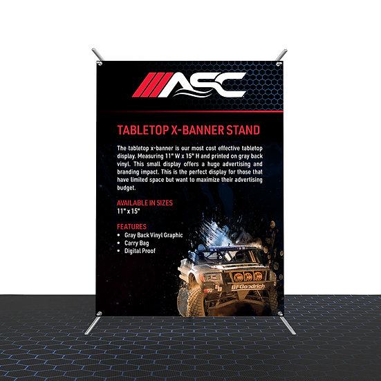 Tabletop X-Banner stand