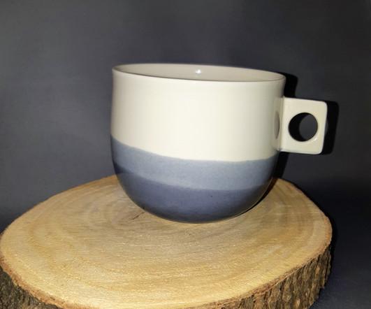 "Grande tasse porcelaine ""Horizon"""
