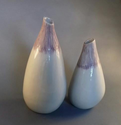 """Duo de vases """"Aubergines"""""""