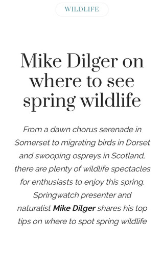 Mike Dilger, Countryfile