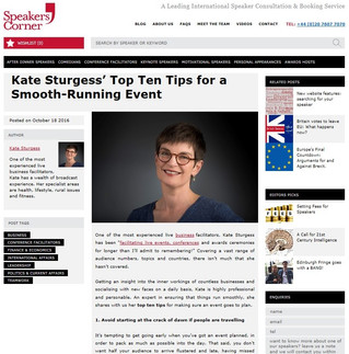 Kate Sturgess' Top 10 Tips for a smooth-running event